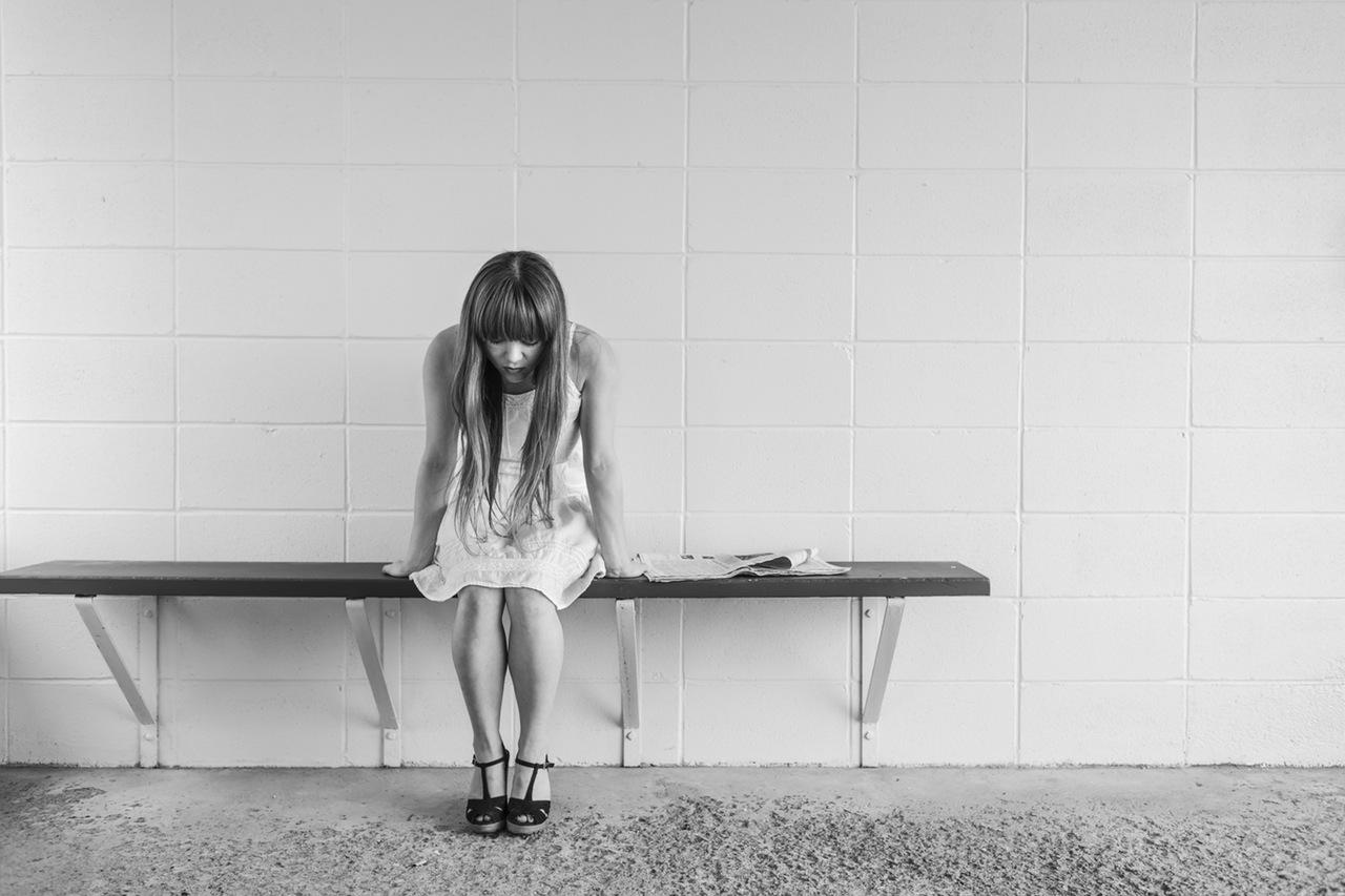Mujer en una relación de abuso