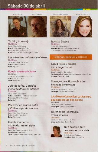 Dra. Isabel Gomez Bassols FeriaLea LA 2011